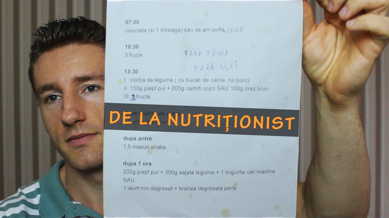meniu de slabit de la nutritionist