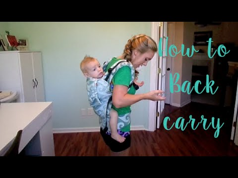 How to back carry in a Tula