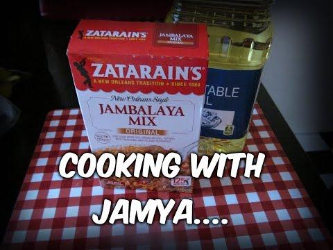 """Cooking Zatarains Jambalaya With Jamya........"