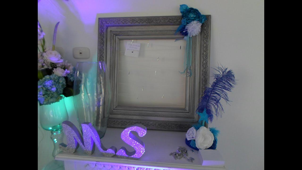 Marco de los deseos para 15 a os tem tica luna y estrellas for Decoracion de pared para quinceanera