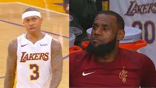 Isaiah Thomas Stares Down LeBron James & Cavs Bench!