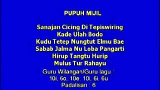 Lagu Sunda denga Lirik | PUPUH MIJIL