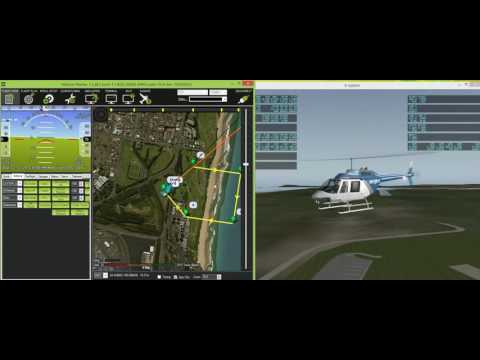 Flying a Bell JetRanger in X-Plane 10 with ArduPilot SITL by ArduPilot Project on YouTube