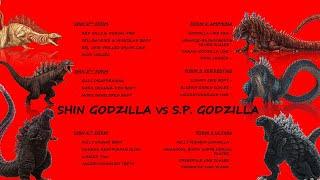Shin Godzilla vs Singular Point Godzilla Evolution Comparison