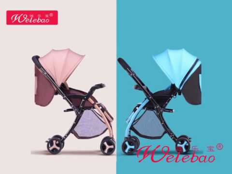 Wholesale new design portable folding baby stroller with aluminum frame
