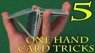 5 ONE HAND CARD TRICKS TUTORIAL + BONUS