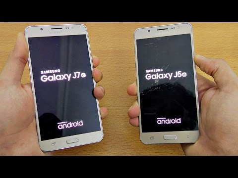 Samsung Galaxy J7 (2016) vs J5 (2016) - Speed Test! (4K)
