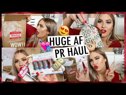 PR Unboxing Haul & Giveaway! ?? Christmas Gifts & NEW Makeup! thumbnail