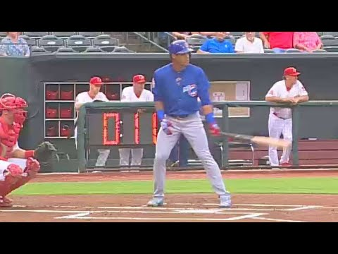 Cubs' Russell doubles in first rehab at-bat