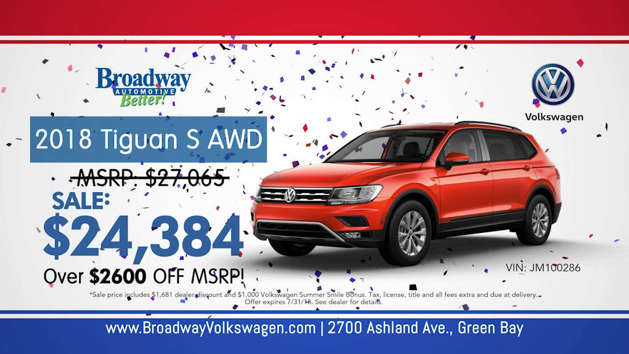 Red White And Blue Auto Sales >> Broadway Volkswagen Red White And Blue Sale