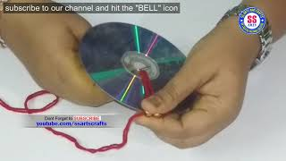 Best out of waste idea from Hair bands and waste CD|| Recycled old CD craft idea|DIY