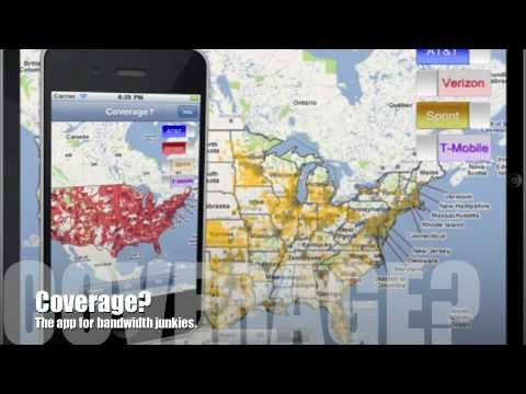 Compare AT&T, Verizon, Sprint & T-Mobile Coverage Maps - iPhone/iPad ...