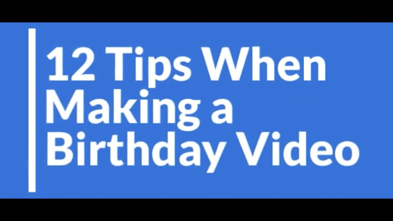 How To Compile Birthday Messages Into One Surprise Video Vidday