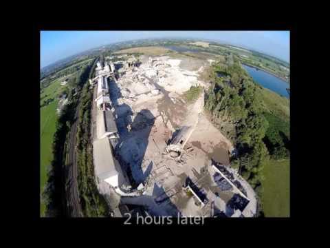 Westbury chimney demolition