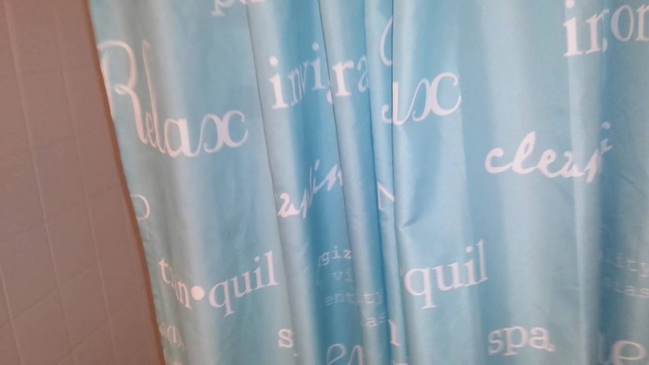 How to fix a tension rod shower curtain - YouTube