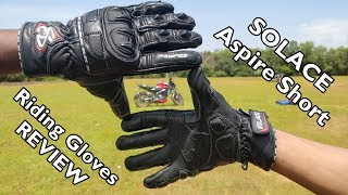 My New Solace Aspire Short Riding Gloves - Review