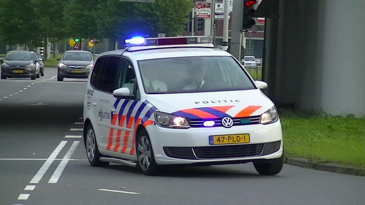 Versneller 2x Politie Noodhulp Met Spoed Naar A16