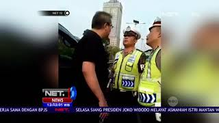 Video Viral Polisi Disemprot Pengendara Saat Bertugas   NET12