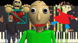 Baldi's Basics In Education And Learning Piano IMPOSSIBLE REMIX Compilation