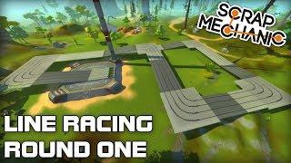 AI Line Racing Challenge First Round! (Scrap Mechanic Live Stream)
