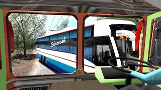 TATA Tipper Lorry Accident With Volvo Bus Accident [Cabin View] | Euro Truck Simulator 2