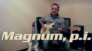 Mac Gyver Magnum, P.I. Knight Rider (Supercar) Theme music (Fender Ibanez)