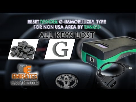 HOW TO RESET TOYOTA G IMMOBLILIZER TYPE FOR NON USA AREA VIA TANGO ALL KEYS LOST
