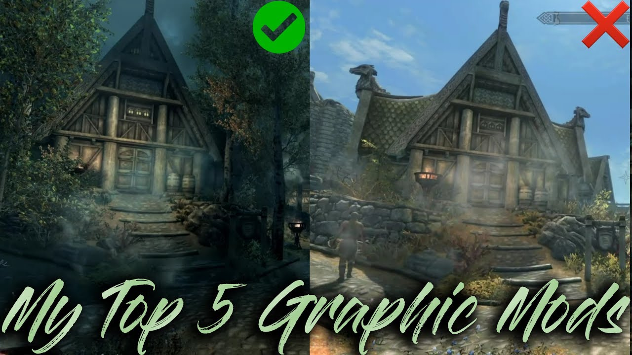 Top 5 Graphic Mods - Skyrim Special Editon [PS4]