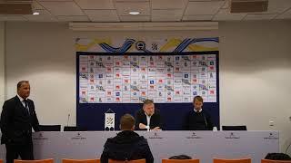 Presskonferens efter ÖFK:s seger mot IFK Göteborg med 1-0.