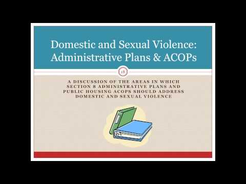 Domestic Violence Advocacy with Housing Authorities - Webinar 12/11/12