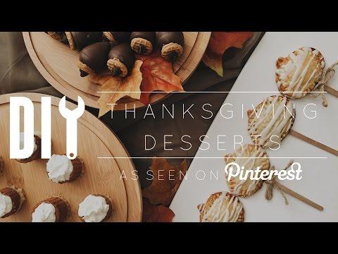 DIY Pinterest Thanksgiving Desserts