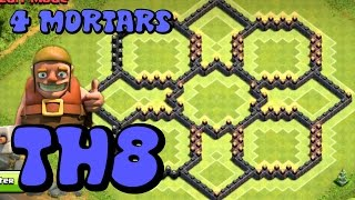 Clash of Clans - Town Hall 8 FARMING BASE (TH8) - Centralized CC - DE Protected - Speed Build 2015