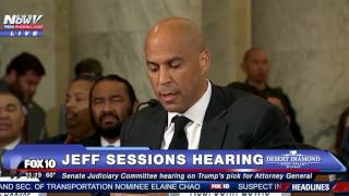FNN: Cory Booker Calls Out His Senate Colleague Jeff Sessions During Civil Rights Questioning Free HD Video