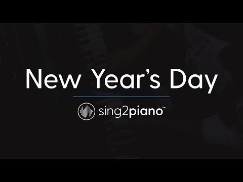 New Year's Day (Piano Karaoke Instrumental) Taylor Swift