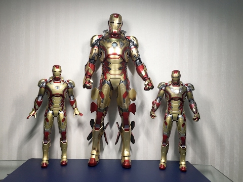 1/4 scale MARK 42 DELUXE from Iron Man 3 by HOT TOYS