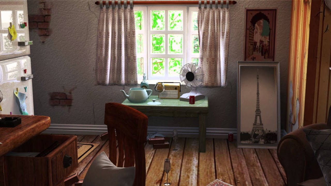 Vintage Rooms 3ds max old vintage room enviroment - youtube
