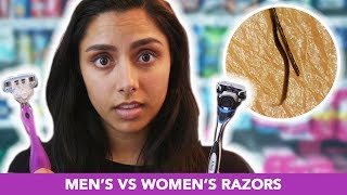 We Tried Men's Vs. Women's Razors