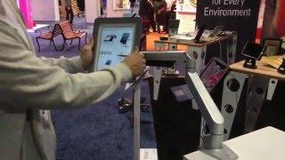 Reach iPad Articulating Desk Mount - Secure Tablet Workstation Kiosk - Healthcare Stand