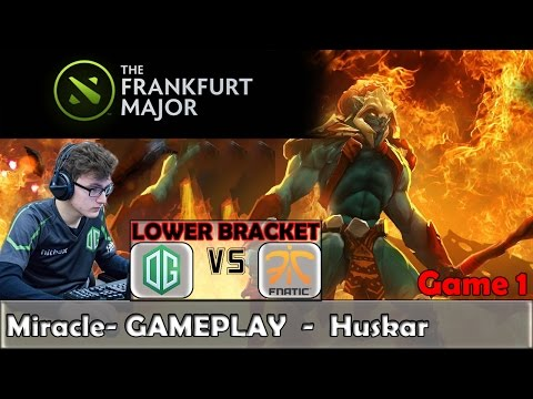 Miracle - Huskar Gameplay | OG vs Fnatic | The Frankfurt Maj