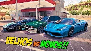 ESSA BMW É BOMBA!! VELHOS VS NOVOS - BMW M5 VS FERRARI 458 VS LAMBORGHINI - FORZA HORIZON 3