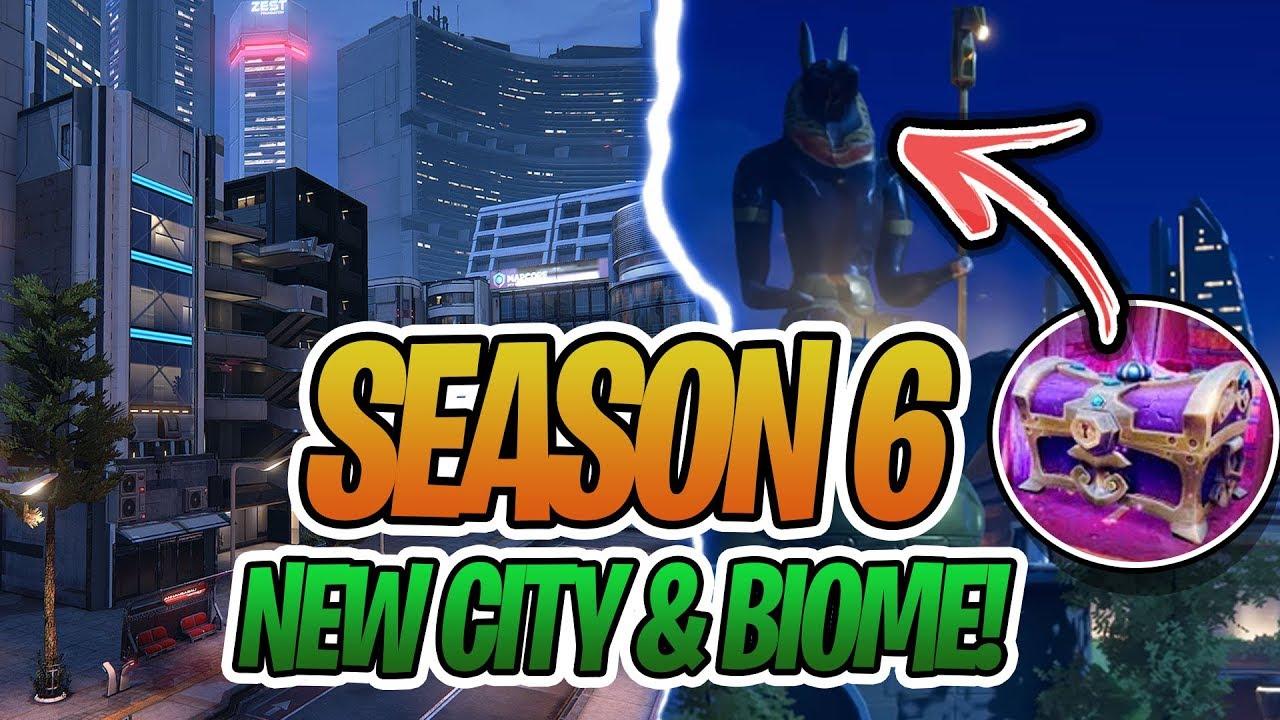 New Fortnite Season 6 New Skins New Citys Leaked Battle