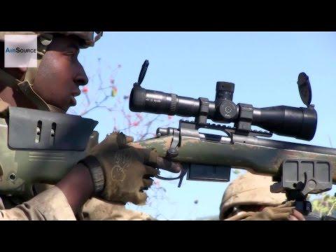 U.S. Marines Scout Sniper Range. M40A5, M110 SASS, M107 SASR.
