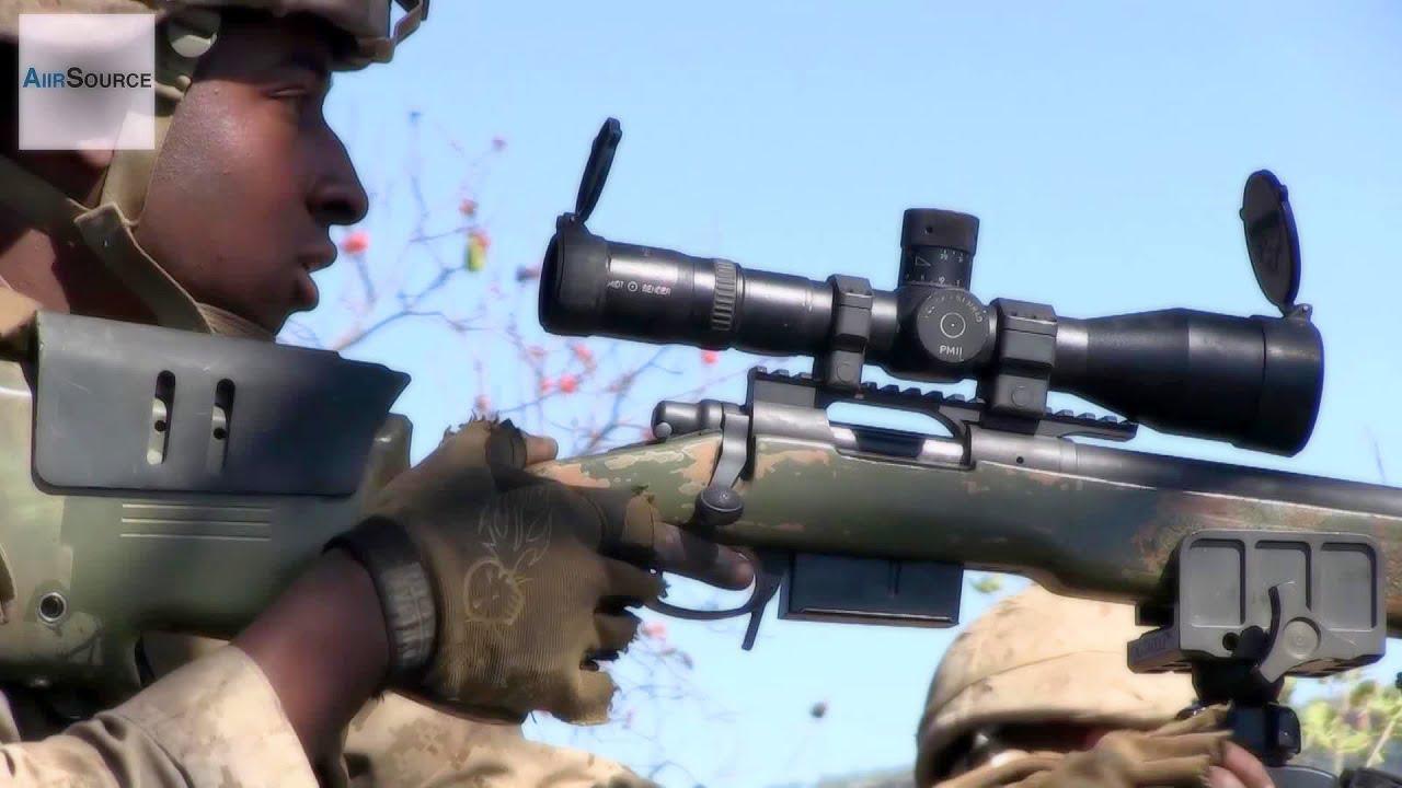 U.S. Marines Scout Sniper Range. M40A5, M110 SASS, M107 ...