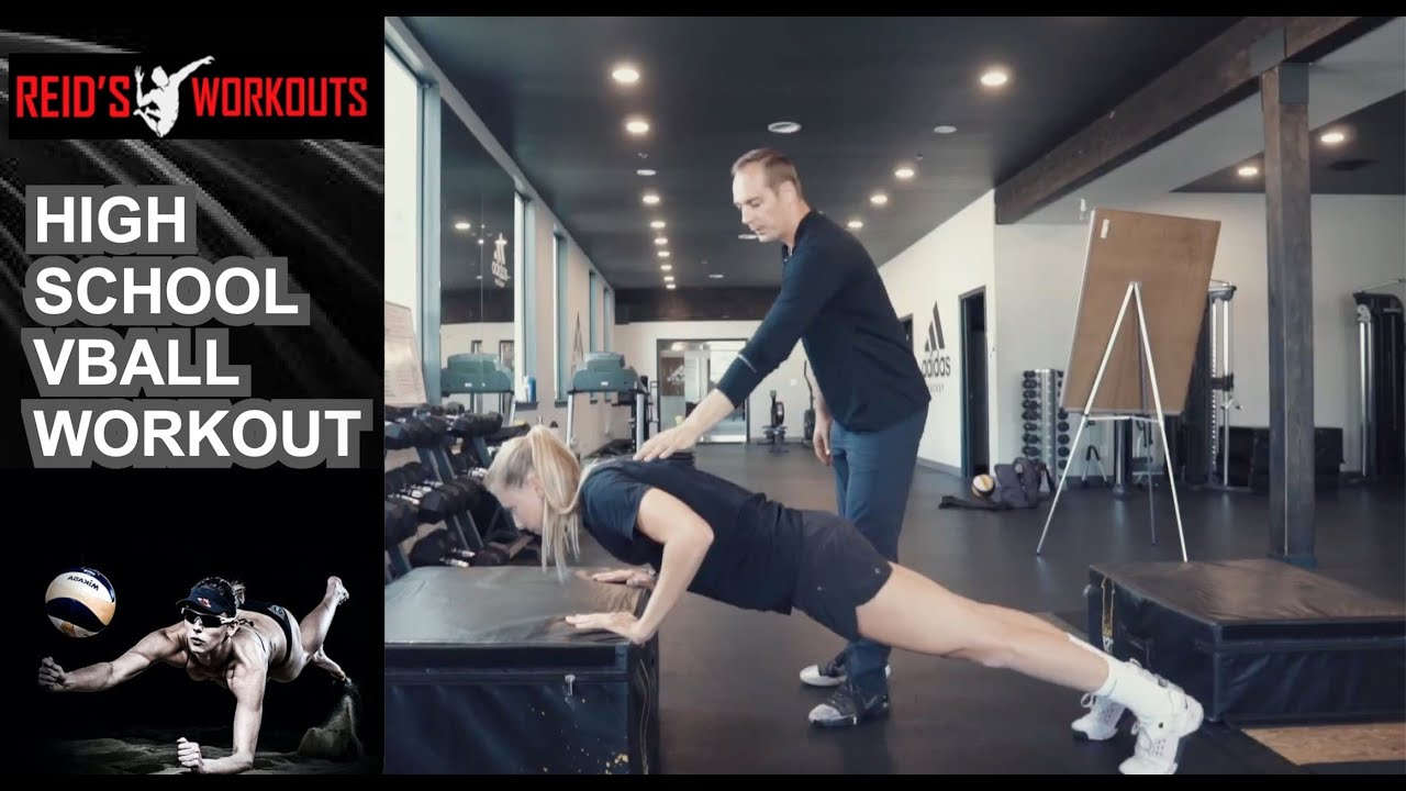 Strength Training for High School Volleyball Athletes   4 Exercise Workout