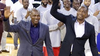 Repeat youtube video Hakeem and Dikembe Surprise in Africa!