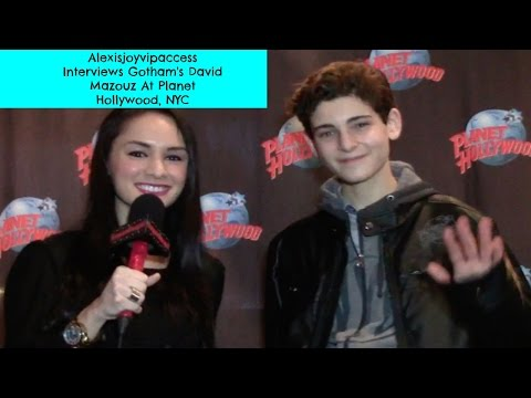Gotham's David Mazouz Interview With Alexisjoyvipaccess - Planet Hollywood NYC