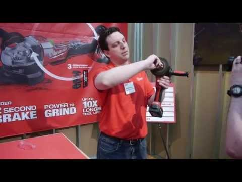 Milwaukee M18 FUEL Safety Grinder Paddle with Brake - Milwaukee Media Event 2015