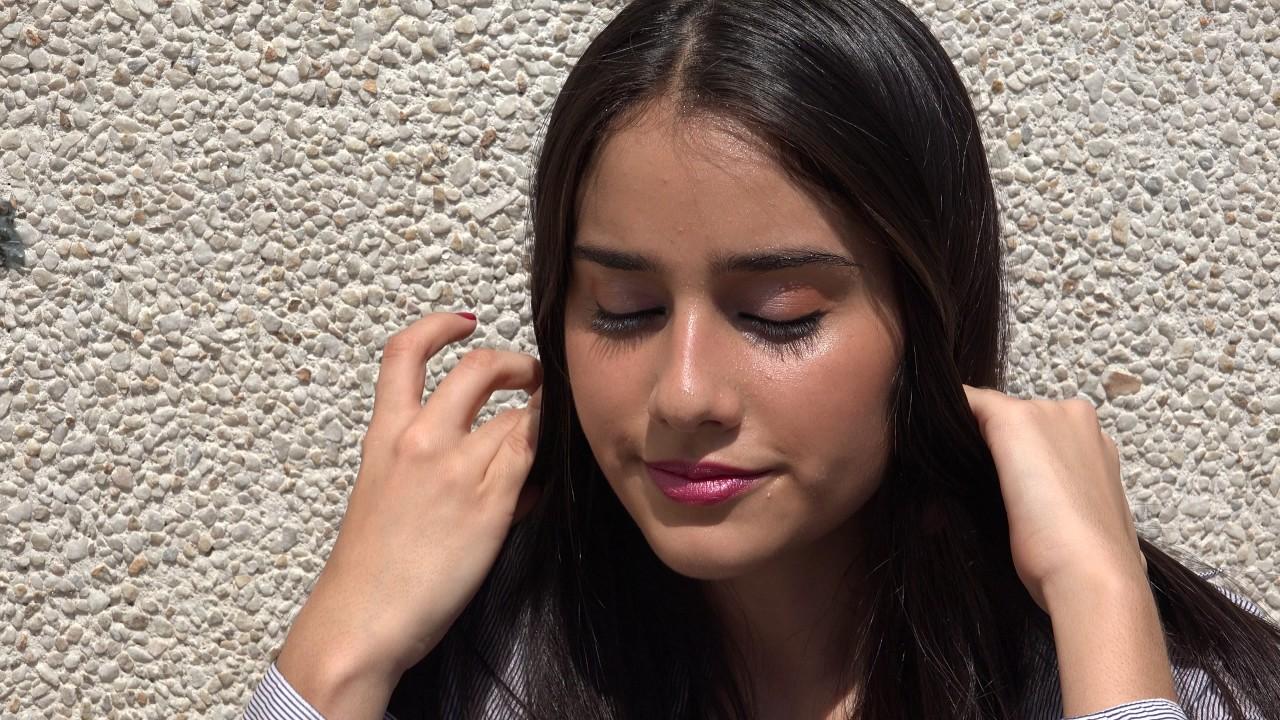 Sweating Teen Girl On Hot Day