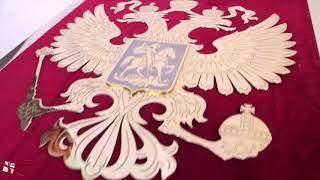 Панно Герб России с позолотой (Златоуст)