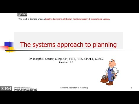 The Systems Approach to Planning